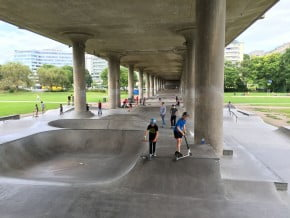 Rålis Skatepark, en av flera skateparker i Stockholm
