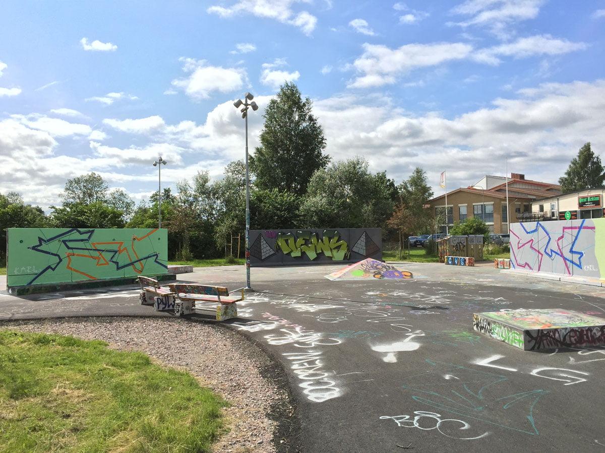 Nyköping Graffitivägg och skatepark