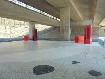 Vårby skatepark byggs här