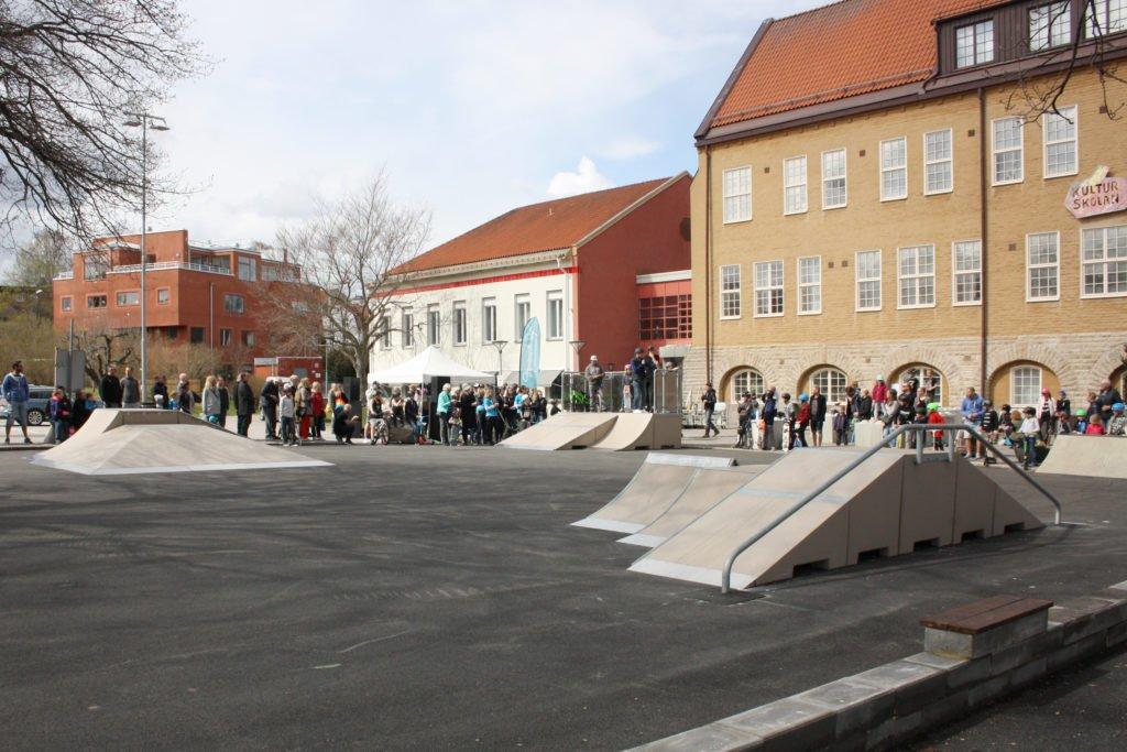 Invigning av Strängnäs Skateplaza.
