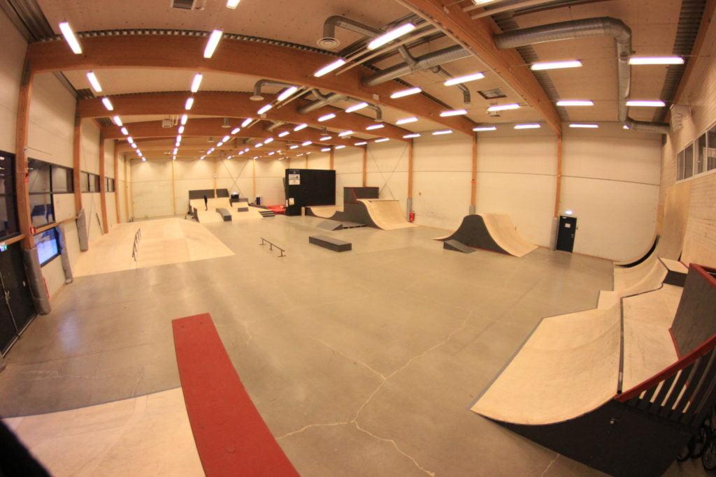 Borås skatehall, steetyta.