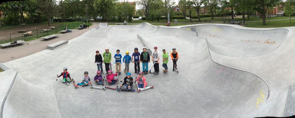 Barn i Trelleborg Skatepark