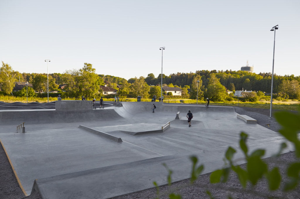 Ekerö skatepark, juni 2020.