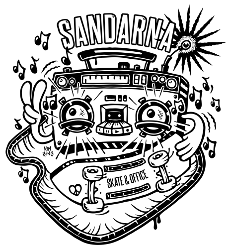 Logotyp för Sandarna skate & Office
