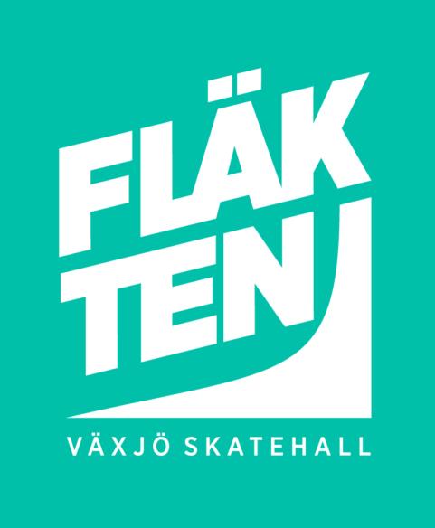 Logotyp, Fläkten - Växjö skatehall.