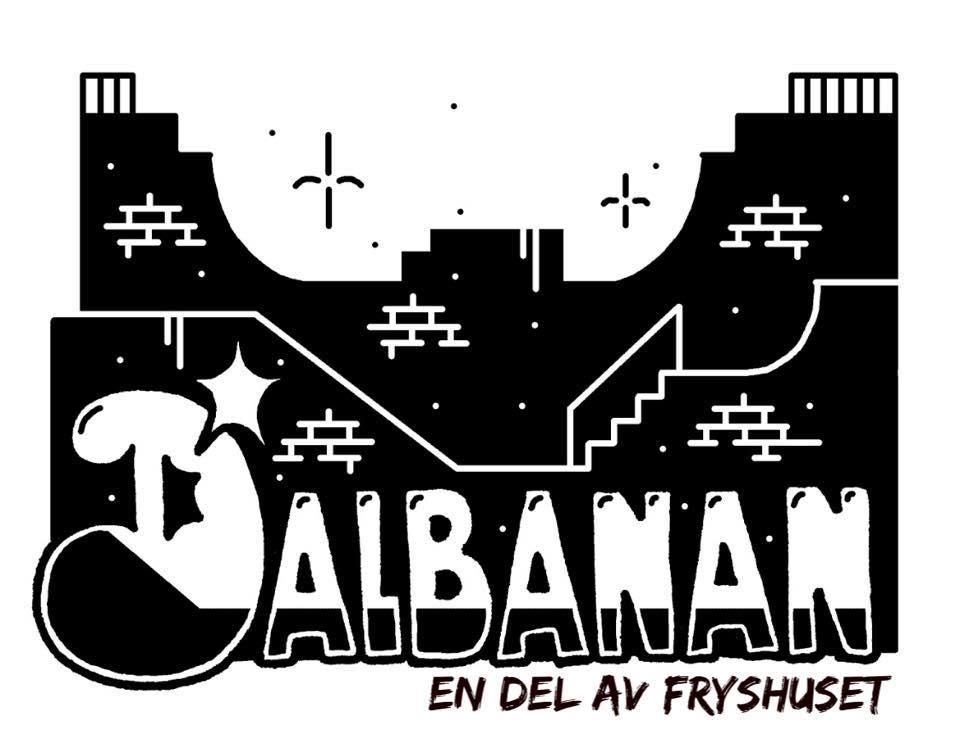 Logotypen för Dalbanan som är en del av Fryshuset i Borlänge.